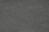 Texture From A Soft Knitted Fabric Of Black Color