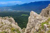 Rocky landscape in crimean mountains