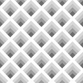 Seamless Geometric Pattern Of Rhombuses Gray Tones With The Effect Of Volume
