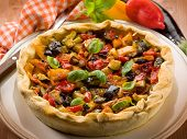 quiche with mixed vegetables