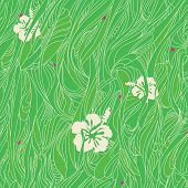 Seamless wavy floral pattern