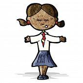 cartoon schoolgirl