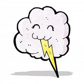 cartoon thunder cloud