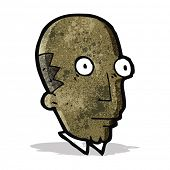 cartoon bald man staring