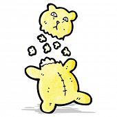 cartoon torn teddy bear