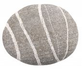 picture of dapple-grey  - onde stone isolated on a white background - JPG