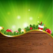 Happy Xmas Banner With Gradient Mesh, Vector Illustration