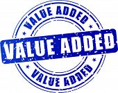Blue Value Added Stamp