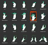 Gesture icons for touch devices