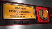 Traffic Conversions on Display of Vending Machine.