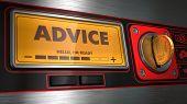 Advice on Display of Vending Machine.