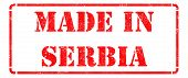 Made in  Serbia on  Rubber Stamp.