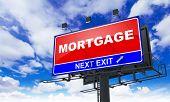 Mortgage Inscription on Red Billboard.