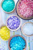 colored sea salt