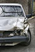 car after crash on road