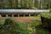 Large Pipeline Industrial Hydroelectric Industry Construction Viaduct