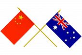 Flags, Australia And China