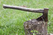 axe in the stump