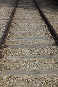 picture of pedestrian crossing  - Railroad crossing  - JPG