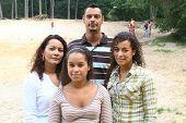 multi cultural family portrait