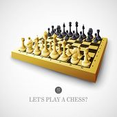 foto of chessboard  - Chess with chessboard - JPG