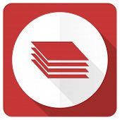 picture of gage  - layers red flat icon gages sign  - JPG