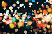 stock photo of christmas party  - Festive background with natural bokeh and bright golden lights - JPG