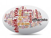 picture of appreciation  - Concept or conceptual abstract thank you word cloud in different languages or multilingual for education or thanksgiving day - JPG