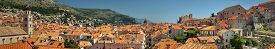 pic of former yugoslavia  - Dubrovnik old town panorama taken from city wall - JPG