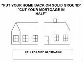 Refinance Home Mortgage Sign