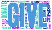 foto of give thanks  - Give word cloud on a white background - JPG