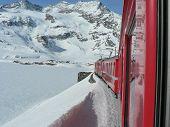 Train at the Bernina Pass