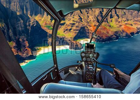 Helicopter cockpit flies