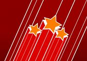 Artistic red vector stars.