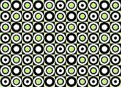 Green circle pattern. Vector