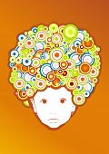 Baby with afro style. Vector