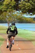 Cycling Near River