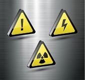 Warning signs set, vector