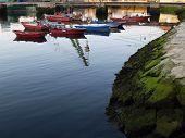 fishing boats at vigo's coast in the
