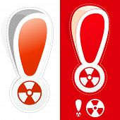 Radioactive signs. Vector illustration.