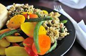 Healthy Rice And Vegetable Set