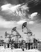 stock photo of oil rig  - Oil and gas industry - JPG