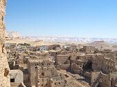 Small Old Village Of Bricks Of Dry Mud, El Qasr, Oasis Of Dakhla, Lybian Desert, Egypt