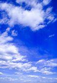 den blauen Himmel.