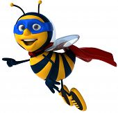 picture of bee cartoon  - Super bee - JPG