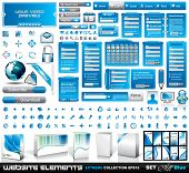 Web Elements EXTREME collection 2 All Blue: login forms, bars,button, 100 more icos, 8 business car