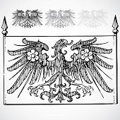 Vector Gothic Eagle Ornaments