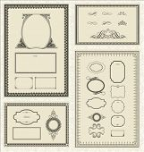 Seamless pattern and decorative frame set. Pattern is included as a seamless swatch.