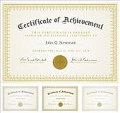 Set of vector certificates with sample and outlined text. Perfect for any formal certificate. All pi