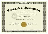 Vector detailed certificate. Perfect as ornate certificate. Wavy currency background pattern is incl